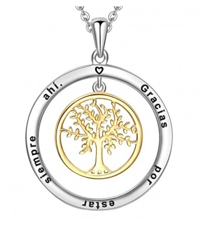 Colgante de plata de ley Árbol