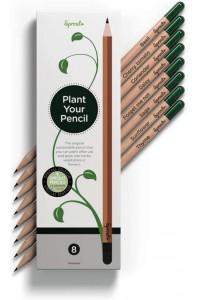 Lápices de colores plantables