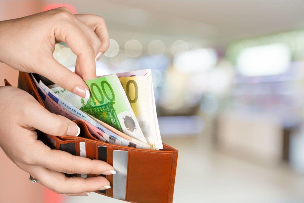 Cartera billetera con euros