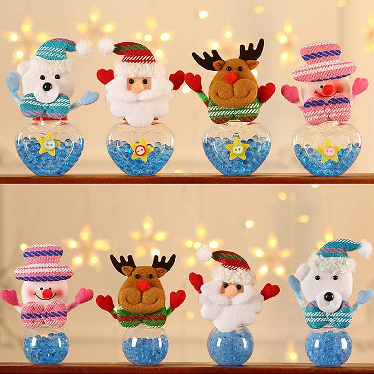 Tarro de caramelos navideño